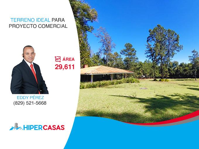Terreno Ideal Para Proyecto Comercial En Jarabacoa