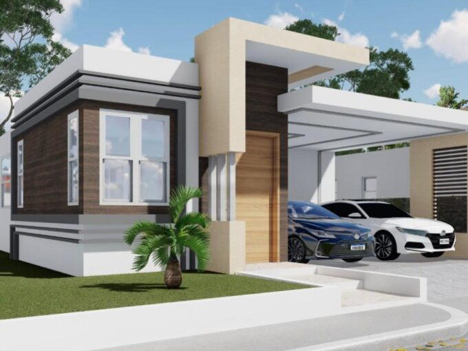 En venta casa estilo moderno y Minimalista Puerto Plata